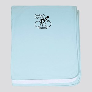 Daddy's Cycling Buddy baby blanket